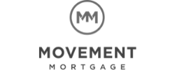 Black and White Movement Mortgage Logo